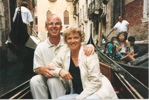 Ray and Gill in Venice on holiday together