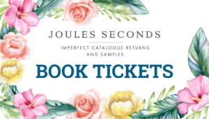 Link to book tickets to Joules Seconds Sale